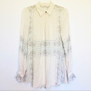 Free People Key Whole Front Blouse